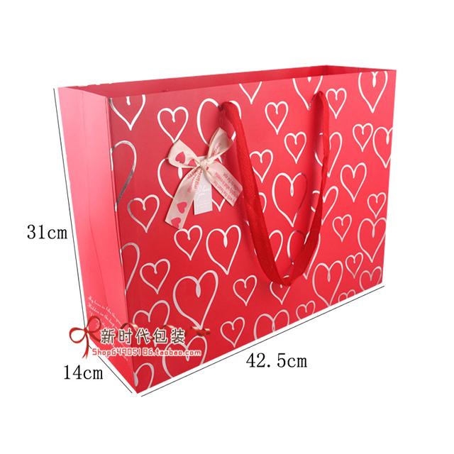 Festive king gift bag paper bag of clothes 31*14*42.5CM
