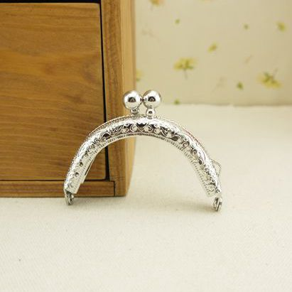 Track Ship 20pcs/lot DIY Cute Mini 6.5cm Silver Metal Purse Frame Handle for Bag Sewing Craft Tailor Sewer,Freeshipping(China (Mainland))