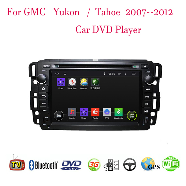 1024*600 Android 4.4.4 Fit GMC Yukon Tahoe 2007 2008 2009 2010 2011 2012 Car DVD Player GPS TV 3G Radio Steering Wheel Control(China (Mainland))