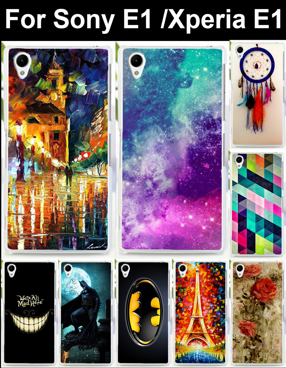 1PC/lot High quality mobile phone case protective case hard Back cover Skin Shell for Sony E1 Xperia E1(China (Mainland))