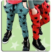 Wholesale Children Boys Sports Leisure Pants Harem Trousers Fashion Five Star Pattern Baby Child Trousers Casual Pants(China (Mainland))
