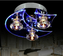 Sell Cheap LED Modern Crystal Chandelier  3-light Use for living room/Bedroom D24*H12CM(China (Mainland))