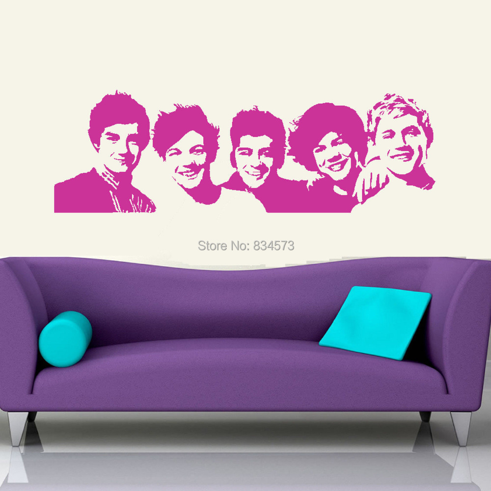 One Direction Bedroom Decor Online Get Cheap Decal Mural Of One Direction Aliexpresscom