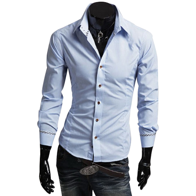 New 2015 fashion shirts men shirt black popular stylish for Men s dress shirt accessories