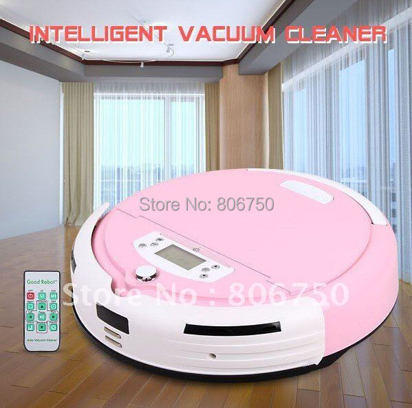 Good News Free Shipping And More 1pc Side Brush and 1pc Mop For Pink Color Robot Carpet Cleaner With 0.7L Rubblish Box