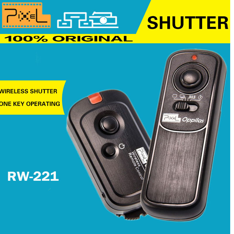 Pixel RW-221 / DC1 Oppilas Wireless Shutter Remote Control Suit For Nikon DSLR D80 D70S Free delivery Lens cloth(China (Mainland))