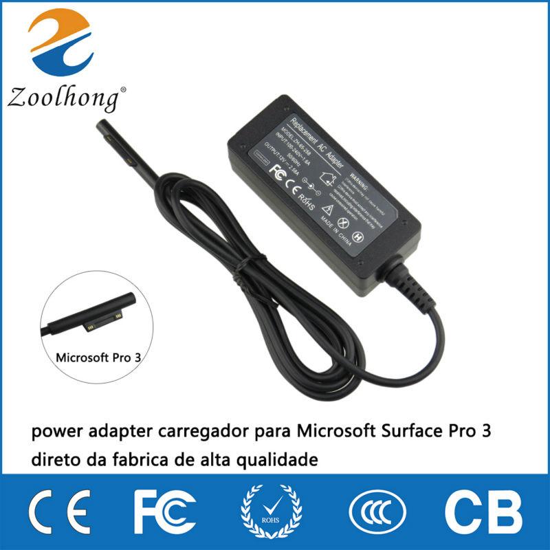 12V 2.58A 36W power adapter carregador para Microsoft Surface Pro 3 direto da fabrica de alta qualidade(China (Mainland))