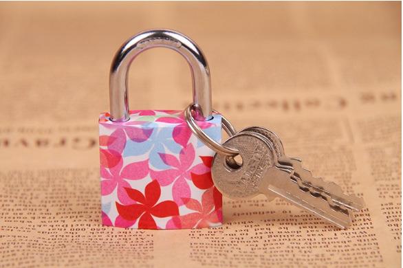 Free shipping 30mm padlock master lock with Travel Luggage Suitcase Lock 3pc keys(China (Mainland))