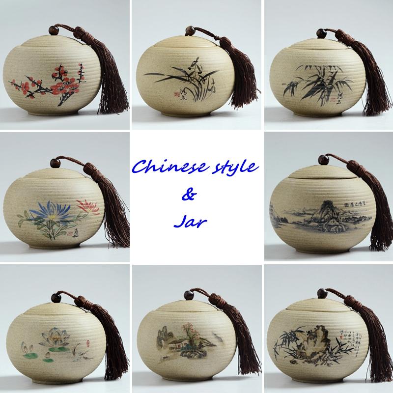 2016Handmade Ceramic ,Sealed small tank,China Storage Bottles & Jars,ceramic Storage tanks,Chinese style jar Tea caddy(China (Mainland))