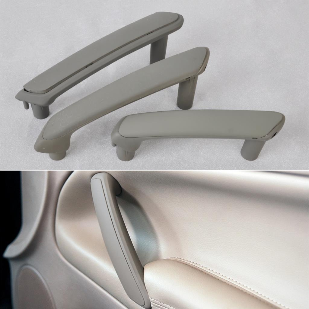 3B4867372,3B0867180A 3x Gray Interior Door Pull Grab Handle& Trim Cover VW Passat B5 1998 1999 2000 2001 2002 2003 2004 2005 - Hutongstore auto parts store