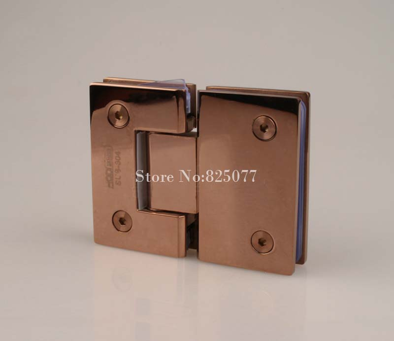 1PCS Rose Gold 180 Degree Hinge Open 304 Stainless Steel Glass Shower Door Hinges For Home Bathroom Furniture Hardware HM155(China (Mainland))