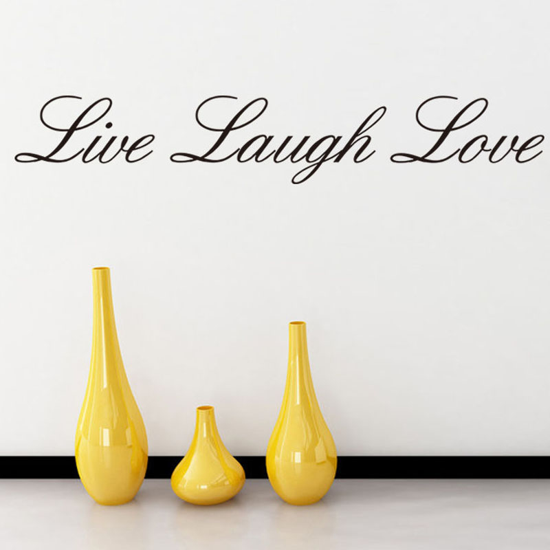 Live Laugh Love Wall Sticker Removable Vinyl Art Simple Words  Wall Decals Living Room Home Decor