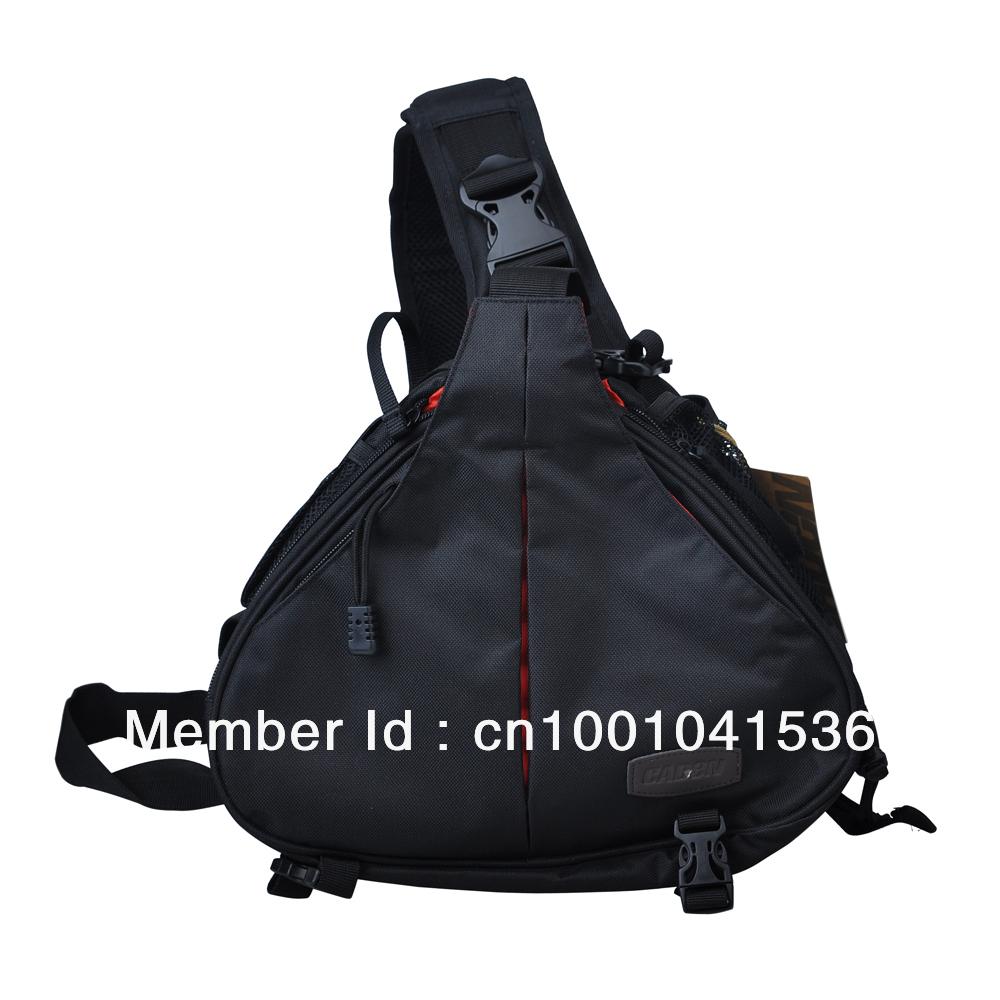 CADEN K1 Waterproof Fashion Casual DSLR Camera Bag Case Messenger Shoulder Bag Case For Canon Nikon Sony Pentax Black