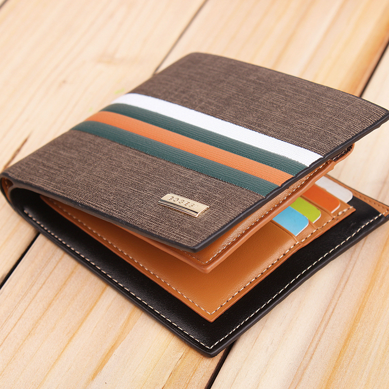 Wallet men leather high quality male purse wallet short fashion men wallets card New Arrival Free Shipping Wholesale Price !(China (Mainland))