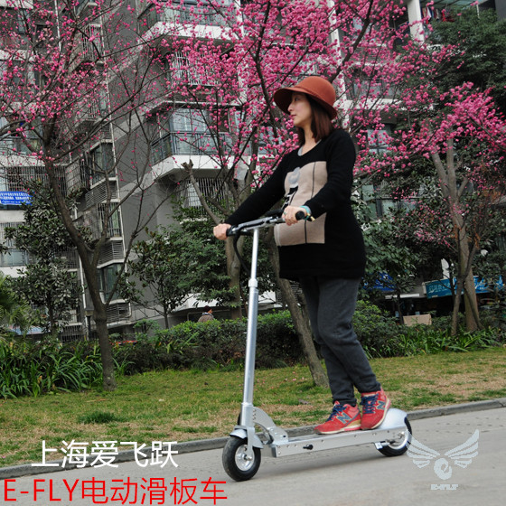 E fly 2014 e8 2 electric scooter disc folding electric bicycle patgear