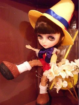 13 inches fashion high quality Tangkou Doll The Adventures of Pinocchio with Changeable Eyes Fashion Doll