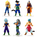 6pcs lot 12CM Dragon Ball Z Figurines Son Goku Dragon Ball Gogeta Super Saiyan Collection Toy
