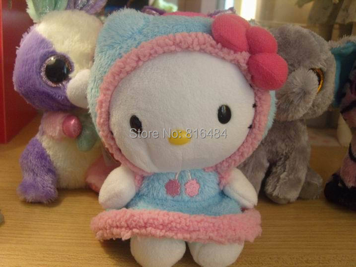 collection beanie babies big eyes stuff doll toy 6 inches hello kitty 0015(China (Mainland))