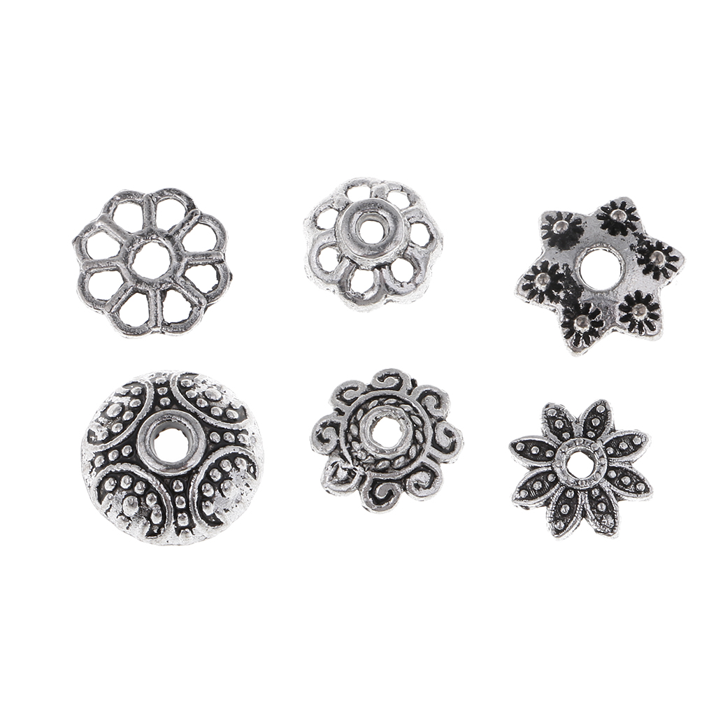150 Pcs Alloy Flower Shaped Bead Caps DIY Jewellery Making Findings Crafts