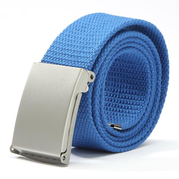 High Quality Women Waist Belt Casual Silver Metal Buckle Canvas Waistband Strap Belt for Men(China (Mainland))