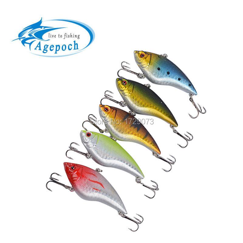 """5pcs/Lot Fishing Lure16g 7cm 2.75"""" Vibration Rattle Hook Crankbait Baits Sinking Vibration Fishing Lures China(China (Mainland))"""
