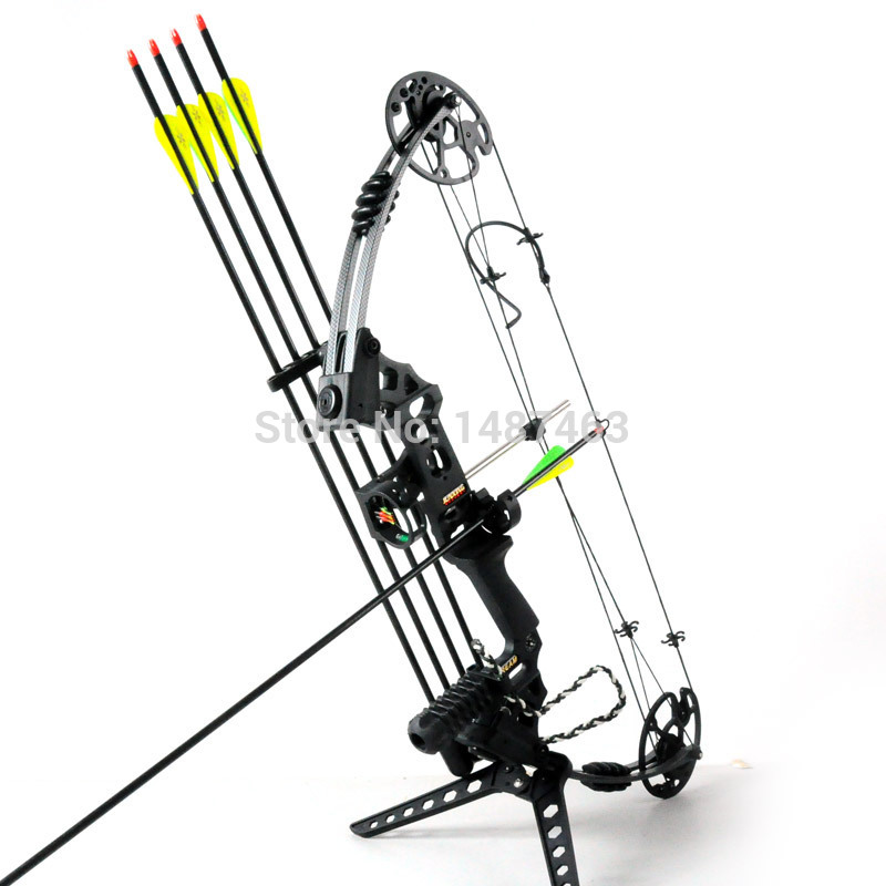 Hunting bow arrow set Super Aluminium alloy handle bow and arrow archery set compound bow right