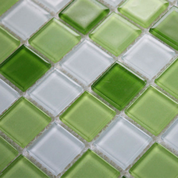 Azulejos De Vidrio Para Baño:Green Glass Mosaic Tile Backsplash
