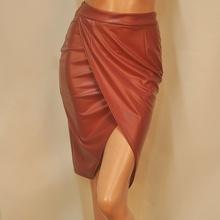 Elegant Women's PU Leather High Waist Party Pencil Skirt Bodycon Split S/M/L Hot LL2