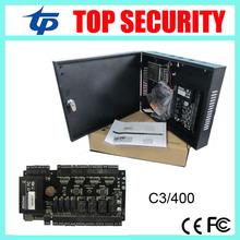 TCP/IP 4 türen zutrittskontrollzentrale access control board C3-400 tür access control system mit netzteil und schützen box(China (Mainland))
