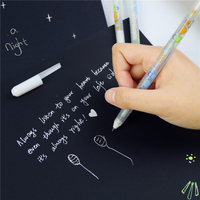 1 Pc White Ink Color Photo Album 0.8mm Gel Pen Cute Unisex Pen Gift For Kids Stationery Office Learning School Supplies