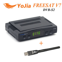[Original] Freesat V7 DVB-S2 HD mit USB Wifi Satellitenfernsehen-empfänger Unterstützung PowerVu Biss Schlüssel Cccamd Youtube Youporn Set Top Box(China (Mainland))