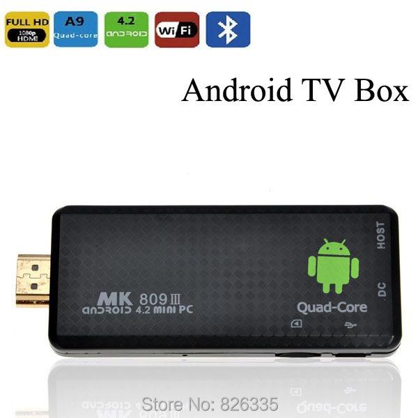 Mini MK809 III Quad Core RK3188 Android 4.4 PC 2GB RAM 8GB ROM Bluetooth Media Player XBMC TV Box(China (Mainland))