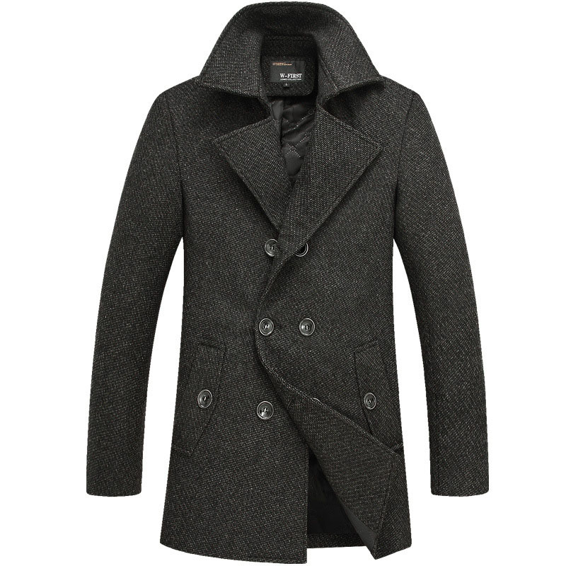2015 new winter mens double-breasted wool coat thicker England mens woolen coat jacket free shipping.FY0907Одежда и ак�е��уары<br><br><br>Aliexpress