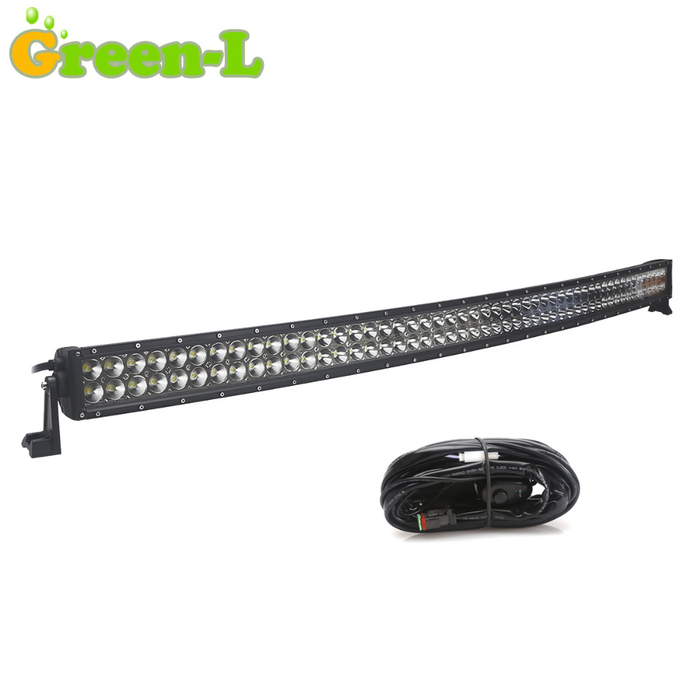 "300W 52"" CREE Curved Driving LED Light Bar For Jeep ATV SUV Car Combo Led OffRoad 52inch Work Light 12v 4WD 4X4 LED Bar Free Kit(China (Mainland))"