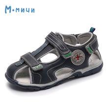 MMnun 3 = 2 סנדלי ילד אורתופדיות ילדי נעלי ילדי בני סנדלי שטוח נעלי סגור הבוהן ילדי סנדלי 2019 גודל 22-32 ML2623(China)
