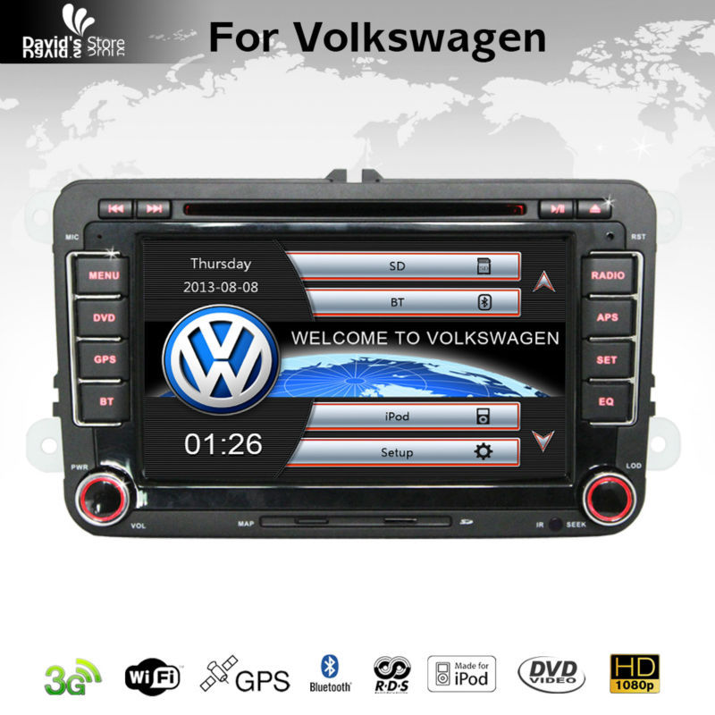 Wholesale! 2 Din 7 Inch Car DVD Player For VW Volkswagen Passat/POLO/GOLF/Skoda With 3G USB Host GPS BT IPOD Radio RDS Free Maps(China (Mainland))