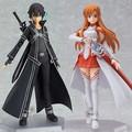Free Shipping 15cm Anime Sword Art Online Kirigaya Kazuto asuna asada Figma 174 Pvc Action Figure