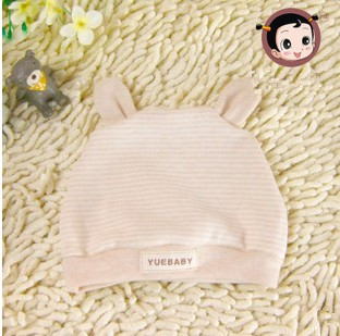 2014 organic natural colored cotton baby hat 100% cotton double layer baby tire cap(China (Mainland))