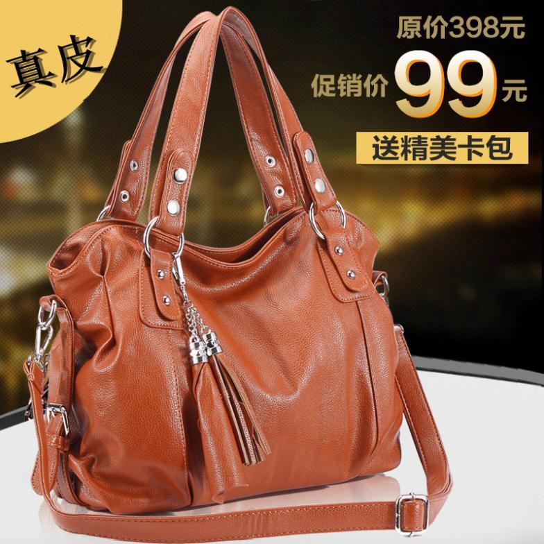 2015 wholesale manufacturers Four Seasons General tassel Leisure Bag Handbag Satchel Shoulder Bag for Europe(China (Mainland))