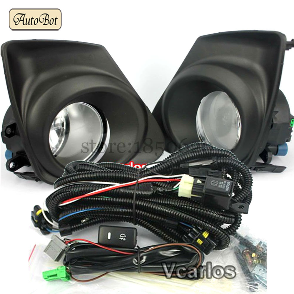 Fog Lights Lamp Toyota Corolla Altis 2011~ON And Corolla 2011 (U.S.TYPE) Clear Lens PAIR SET With Wiring Kit fog light set(China (Mainland))