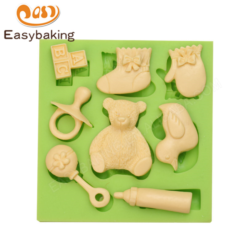 ES-1213 Baby thing series 8 cavity silicone molds
