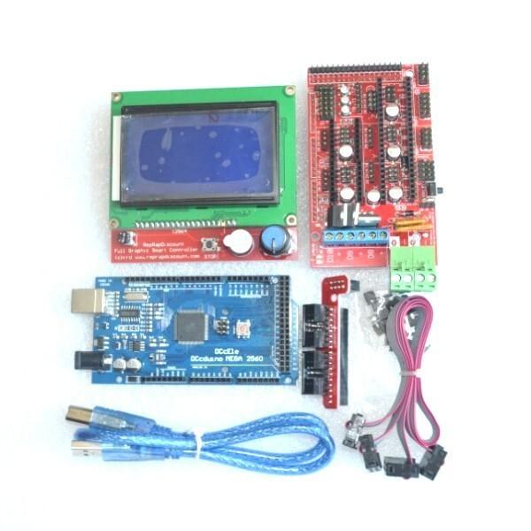 Excellent Mega 2560 R3 Mega2560 REV3 +RAMPS 1.4 Controller +RAMPS1.4 LCD 12864 LCD for 3D Printer arduino kit Reprap MendelPrusa(China (Mainland))