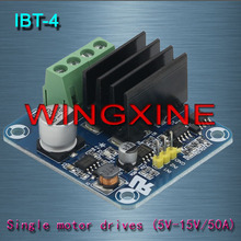 Buy Free shipping,IBT-4 50A H-bridge High-power Motor Driver module/smart car for $10.00 in AliExpress store