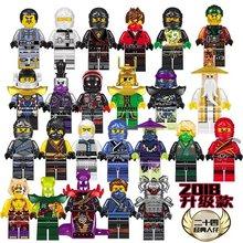 Máscaras 40 PCS Ninjago Figuras Wu Lloyd COLE JAY KAI ZANE Cobra Princesa FILHOS DE GARMADON Blocos de Construção Compatíveis com legoing(China)