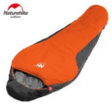 High Quality Mini Camping Sleeping Bag 210 * 83cm Cutton Lining Sleeping Bags+Compression Bag Naturehike Waterproof Portable(China (Mainland))