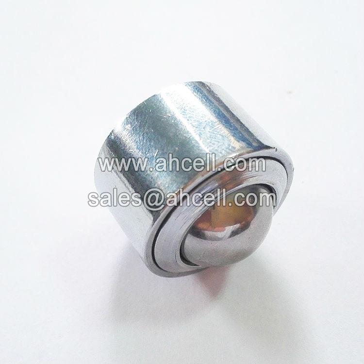 4pcs 25mm 1″ Ball Metal Transfer Bearing Unit Conveyor Roller KSM-25 Tone Eye Shape Design Ball Transfer Unit