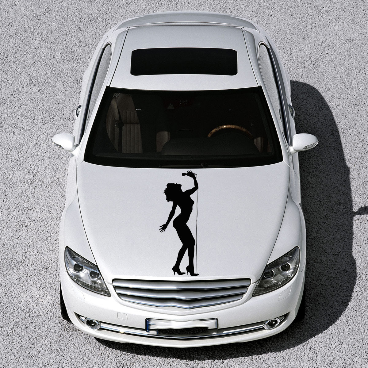 Car sticker design shop - Beautiful Girl Figure Art Murals Design Hood Car Vinyl Sticker Decals Sv1010