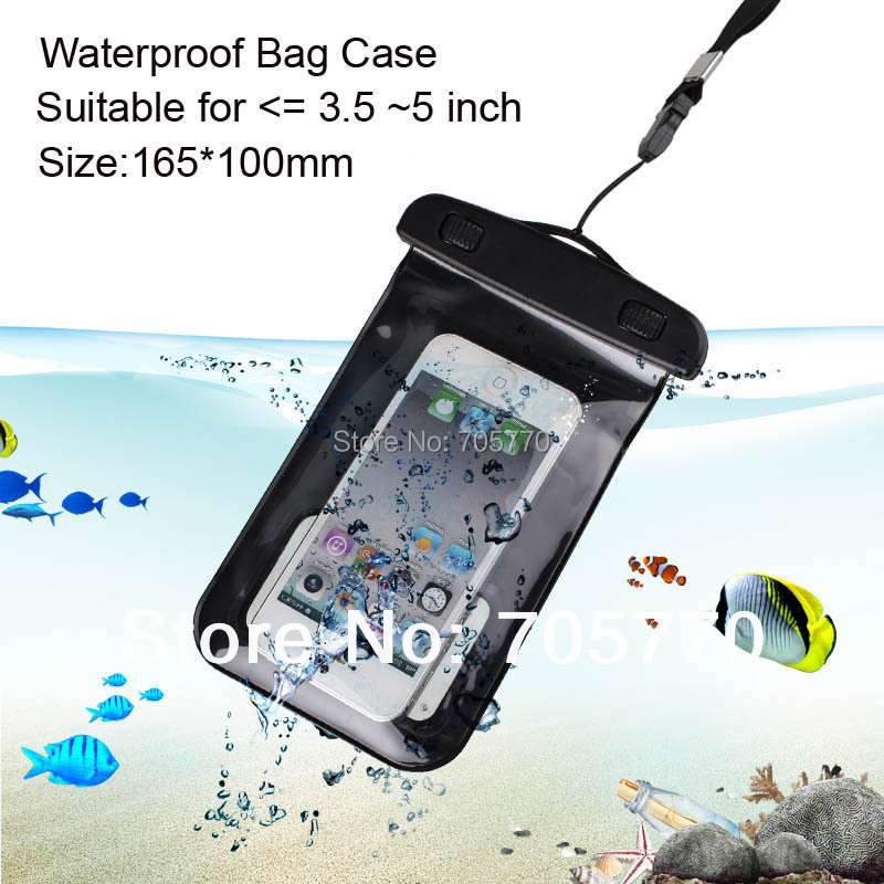PVC Water Proof Bag For Cell Phones Portable Outdoor Waterproof Pouch Skin Case mobile telephone waterproof case(China (Mainland))