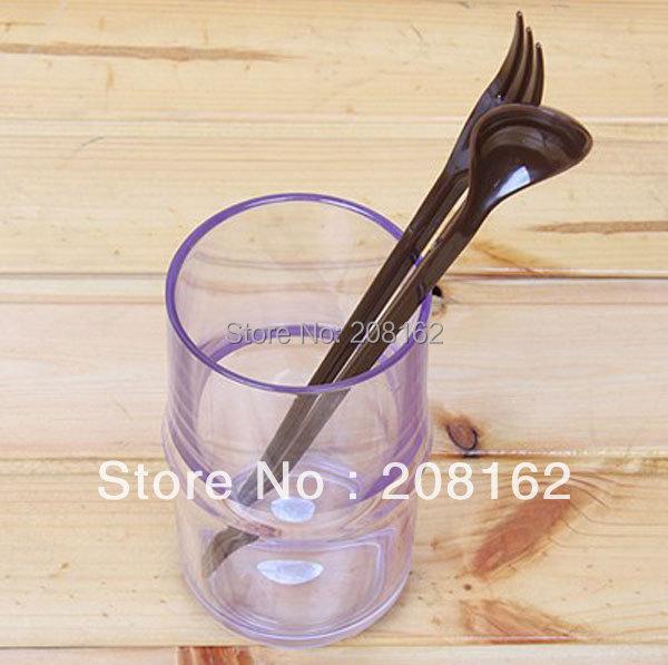 Travel Portable Three-piece Cutlery Folding Chopsticks Spoon Fork Simple 3 In 1 Environment Friendly Dinnerware Flatware Sets(China (Mainland))