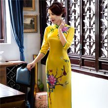 Buy Hot Sale Traditional Chinese Ladies Velour Cheongsam Long Qipao Dress Summer Style Vestidos Size S M L XL XXL XXXL 1275852 for $42.00 in AliExpress store